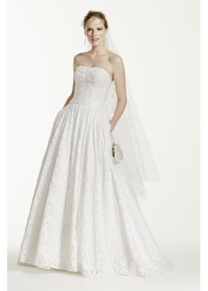 Lace Ball Gown with Intricate Embroidered Details WG3512
